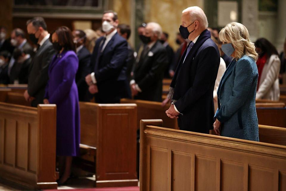 <p>President-elect Joe Biden and Vice President-elect Kamala Harris attend church service on the morning of the inauguration </p>