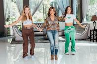 <p>Paula Abdul joins members of Dance Dome LA to record dances for their social media channels at The Clubhouse Beverly Hills on June 6. </p>