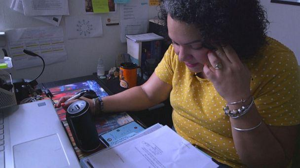 PHOTO: Liceny Espaillat said she juggles school, parenting and a few hours of independent legal work for her own, one-woman, law firm from her bedroom while she looks for a full-time job.  (ABC)
