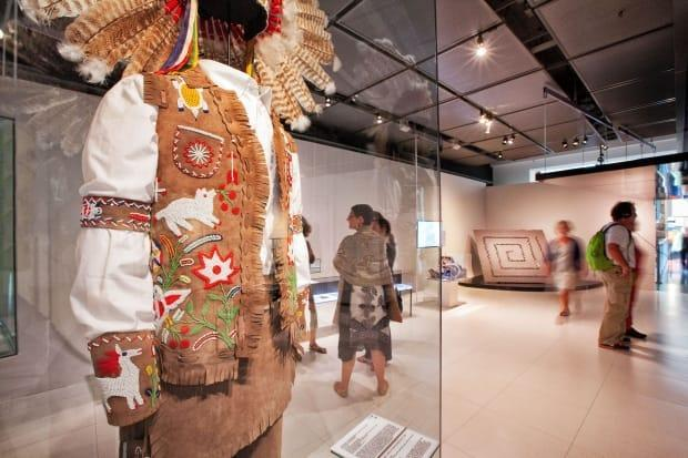 Wearing Our Identity is a permanent collection of Indigenous clothing and accessories from across Canada. It's been on display at Montreal's McCord Museum since 2013 and is set to be replaced by a new First Nations exhibit in the coming months.  (McCord Museum - image credit)