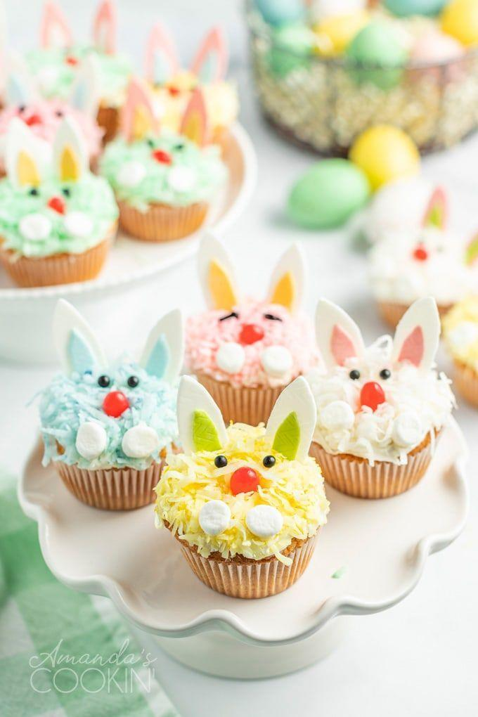 "<p>Believe it or not, these bunnies' colorful ears are made with chewing gum.</p><p><strong>Get the recipe at <a href=""https://amandascookin.com/easter-bunny-cupcakes/"" rel=""nofollow noopener"" target=""_blank"" data-ylk=""slk:Amanda's Cookin'"" class=""link rapid-noclick-resp"">Amanda's Cookin'</a>.</strong></p><p><a class=""link rapid-noclick-resp"" href=""https://go.redirectingat.com?id=74968X1596630&url=https%3A%2F%2Fwww.walmart.com%2Fsearch%2F%3Fquery%3Dpioneer%2Bwoman%2Bmixing%2Bbowls&sref=https%3A%2F%2Fwww.thepioneerwoman.com%2Ffood-cooking%2Fmeals-menus%2Fg35408493%2Feaster-desserts%2F"" rel=""nofollow noopener"" target=""_blank"" data-ylk=""slk:SHOP MIXING BOWLS"">SHOP MIXING BOWLS</a></p>"