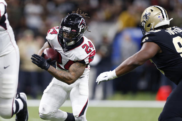 Devonta Freeman will be looking for a new team. (AP Photo/Rusty Costanza)