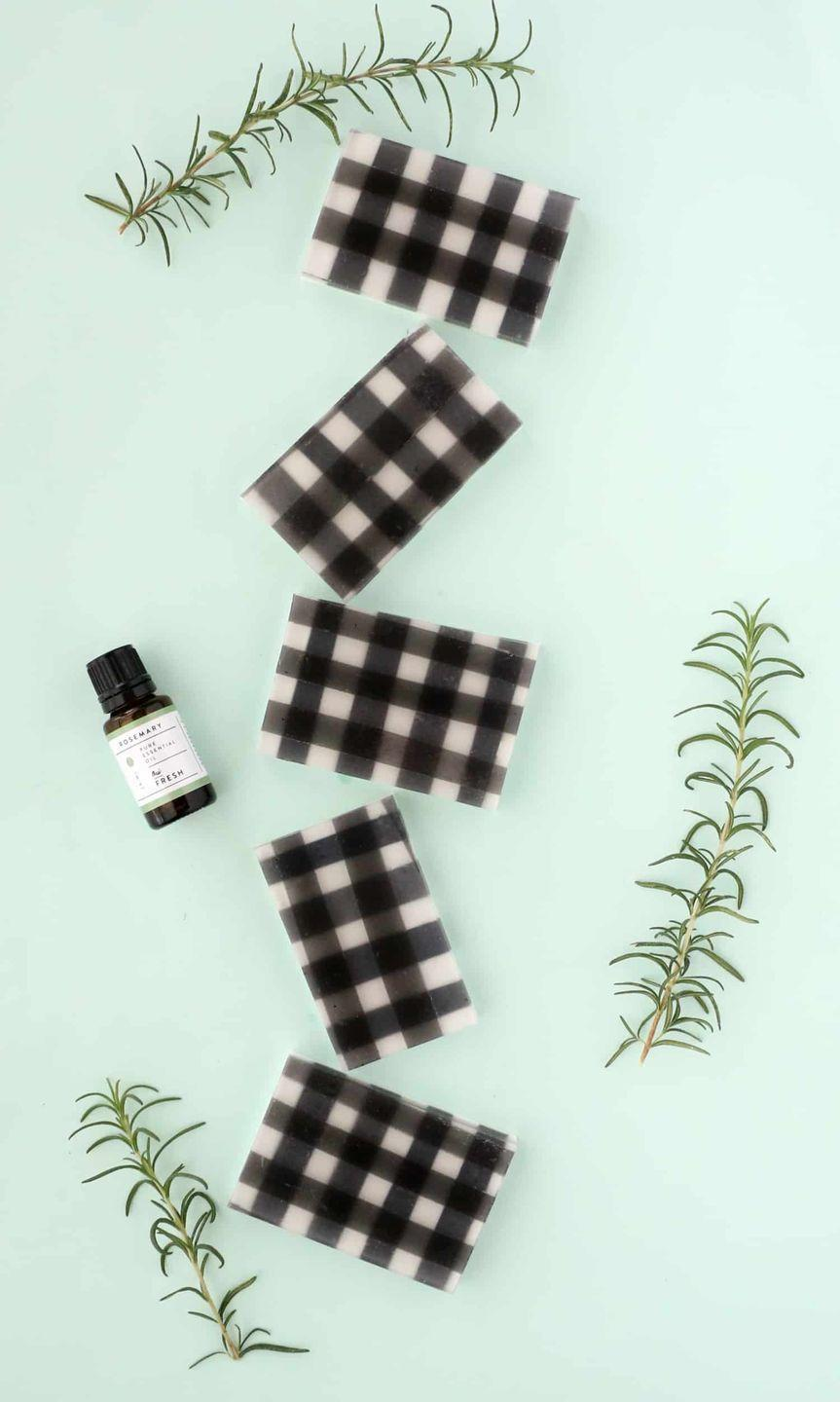 """<p>A Father's Day gift idea that gives twice—it'll occupy your teenage daughter for an afternoon, plus delight dad. </p><p><a href=""""https://abeautifulmess.com/2017/12/diy-buffalo-check-rosemary-soap.html"""" rel=""""nofollow noopener"""" target=""""_blank"""" data-ylk=""""slk:Get the tutorial."""" class=""""link rapid-noclick-resp"""">Get the tutorial.</a></p><p><a class=""""link rapid-noclick-resp"""" href=""""https://www.amazon.com/Rosemary-Essential-Oil-100-Pure/dp/B00PM2T3N6?tag=syn-yahoo-20&ascsubtag=%5Bartid%7C10072.g.27603456%5Bsrc%7Cyahoo-us"""" rel=""""nofollow noopener"""" target=""""_blank"""" data-ylk=""""slk:SHOP ESSENTIAL OIL"""">SHOP ESSENTIAL OIL</a></p>"""