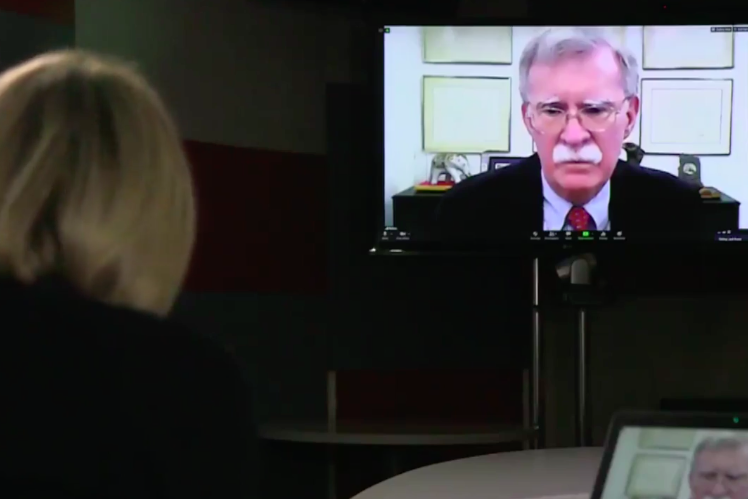 Ms Maitlis grilled former Trump advisor John Bolton on why he did not testify at Donald Trump's impeachment trial: BBC