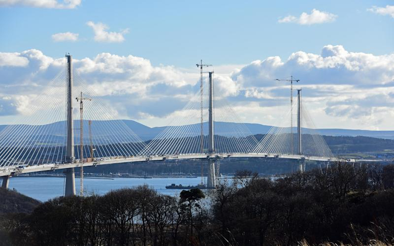 The new Queensferry Crossing over the Forth - Credit: Ken Jack / Alamy Live News