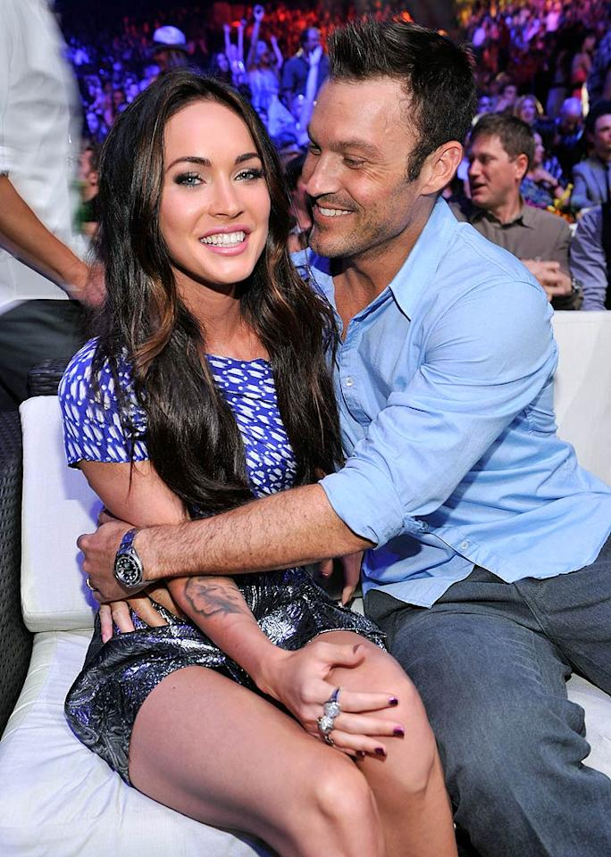 "Though Megan Fox and Brian Austin Green tied the knot a little less than three months ago, <i>In Touch</i> reports their marriage is in ""trouble."" The magazine says they're having ""fights about money, having kids, and making each other the priority."" How bad has it gotten between the newlyweds? Read what a mutual pal of the pair tells <a href=""http://www.gossipcop.com/megan-fox-brian-austin-green-marriage-counseling-therapy-therapist-problems-troubles-fighting/"" target=""new"">Gossip Cop</a>. Kevin Mazur/<a href=""http://www.wireimage.com"" target=""new"">WireImage.com</a> - August 8, 2010"