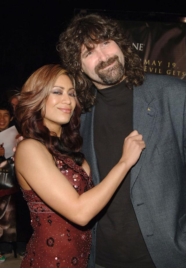 Melina, WWE Diva and Mick Foley, WWE Raw Superstar (Photo by J.Sciulli/WireImage for LIONSGATE)