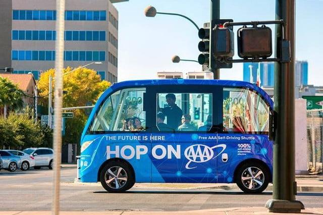 AAA and Keolis self-driving shuttle in Las Vegas