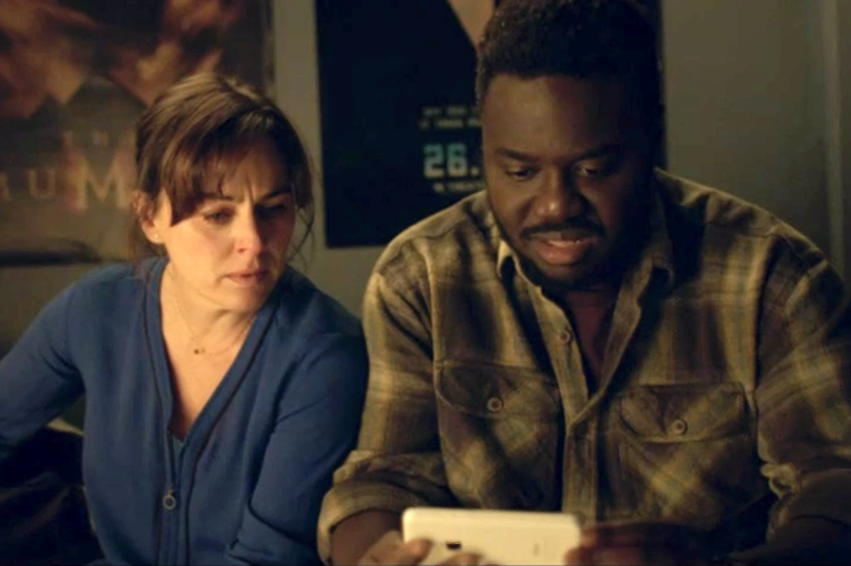 The opening episode's most distressing scene saw the parents watch video evidence of their son's abuse (BBC)