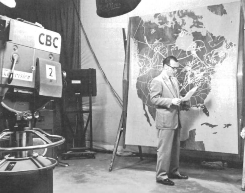 September 8, 1952 - First Person on Canadian TV - A Weatherman!
