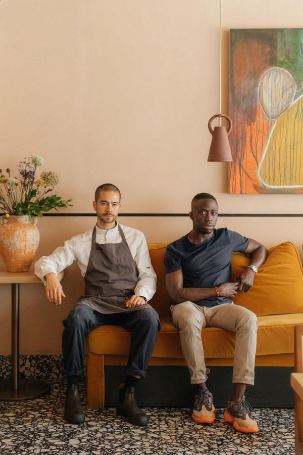 Jeremy Chan and Ire Hassan-Odukale of London's Ikoyi, winner of the American Express One To Watch Award 2021, part of The World's 50 Best Restaurants awards programme. Image credit: Maureen M. Evans