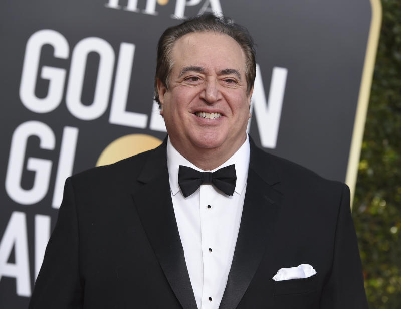 Nick Vallelonga arrives at the 76th annual Golden Globe Awards at the Beverly Hilton Hotel on Sunday, Jan. 6, 2019, in Beverly Hills, Calif. (Jordan Strauss/Invision/AP)