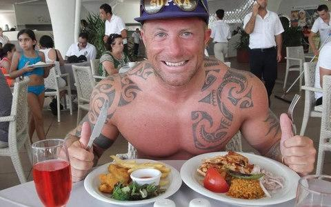 Leon Roberts tucks into a meal on holiday in Turkey - Credit: Eugene Henderson