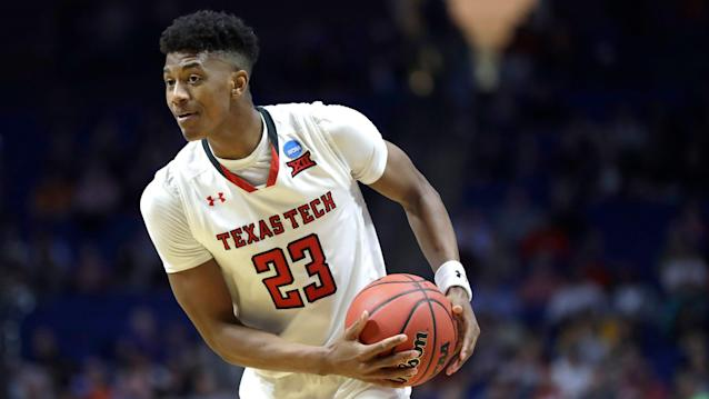 "A projected lottery pick, <a class=""link rapid-noclick-resp"" href=""/ncaab/players/142322/"" data-ylk=""slk:Jarrett Culver"">Jarrett Culver</a> is leaving Texas Tech after his sophomore season. (AP)"