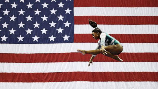 PHOTO: Simone Biles competes on the balance beam during the Senior Women's competition of the 2019 U.S. Gymnastics Championships at the Sprint Center on August 09, 2019, in Kansas City, Missouri. (Jamie Squire/Getty Images)