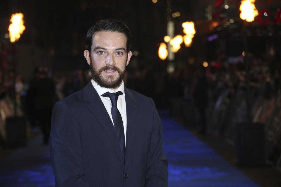 Actor Kevin Guthrie poses for photographers upon arrival at the premiere of the film 'Fantastic Beasts And Where To Find Them' in London, Tuesday, Nov. 15, 2016. (Photo by Joel Ryan/Invision/AP)