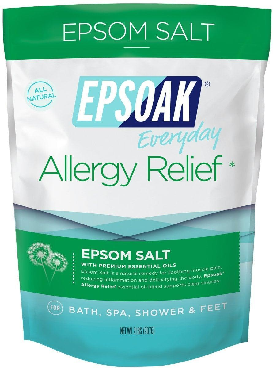 <p>If you have spring time allergies, try out the <span>Epsoak Epsom Salt Allergy Relief Bath Salts</span> ($9).</p>