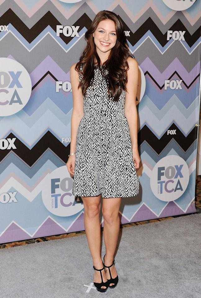 Melissa Benoist arrives at the 2013 Winter TCA FOX All-Star Party at The Langham Huntington Hotel and Spa on January 8, 2013 in Pasadena, California.
