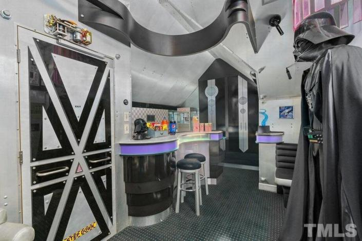 A home in north Raleigh owned by singer Shirley Caesar is on the market for $1.5 million and is receiving much attention for its Star Wars-themed home theatre.
