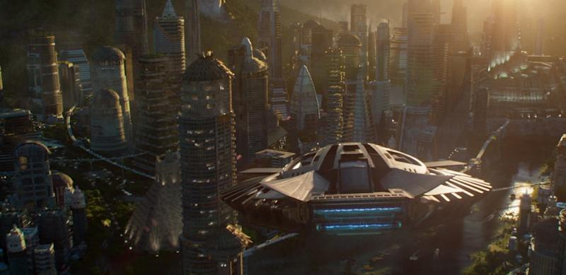 Black Panther's homeland of Wakanda (credit: Marvel Studios)