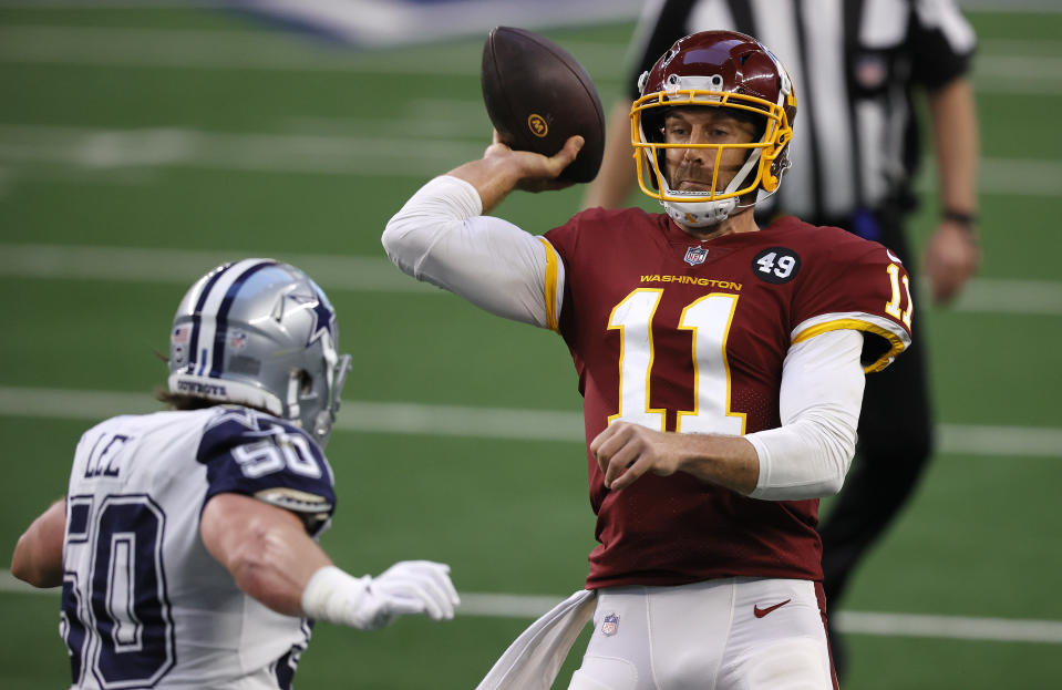 Alex Smith led the WFT to a big win. (Photo by Tom Pennington/Getty Images)