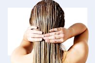 """<p><strong>""""Things that make hair look older are frizz, breakage, dryness, greying hair, lack of shine and loss of elasticity. </strong>Deeply conditioning the hair can have a huge impact on aiding most of these conditions."""" —<em>Paul Labrecque, celebrity hairstylist</em></p>"""