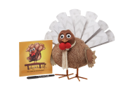 """<p><strong>Turkey on the Table</strong></p><p>turkeyonthetable.com</p><p><strong>$40.00</strong></p><p><a href=""""https://turkeyonthetable.com/collections/products/products/turkey-on-the-table"""" rel=""""nofollow noopener"""" target=""""_blank"""" data-ylk=""""slk:Shop Now"""" class=""""link rapid-noclick-resp"""">Shop Now</a></p><p><a href=""""https://turkeyonthetable.com/"""" rel=""""nofollow noopener"""" target=""""_blank"""" data-ylk=""""slk:Turkey on the Table"""" class=""""link rapid-noclick-resp"""">Turkey on the Table</a> encourages kids and families to express <a href=""""https://www.countryliving.com/life/g28564406/gratitude-quotes/"""" rel=""""nofollow noopener"""" target=""""_blank"""" data-ylk=""""slk:gratitude"""" class=""""link rapid-noclick-resp"""">gratitude</a>, with the goal of turning thankfulness into a daily routine. The classic kit includes a knit turkey with """"feathers"""" on which family members will write down the things they're grateful for leading up to Thanksgiving, as well as a heartwarming book. Ten meals are provided to Feeding America for each purchase. </p>"""