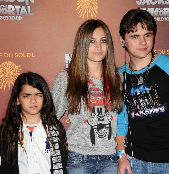 Jackson kids - Blanket, Paris and Prince at the LA for the premiere of 'Michael Jackson: The Immortal World Tour' - the official theatrical production by Cirque du Soleil aimed to spread Michael's global messages of love, peace and unity across the world through his music.