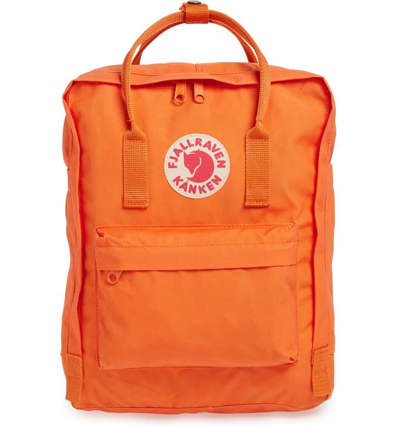 Fjällräven Kånken Water Resistant Backpack in burnt orange