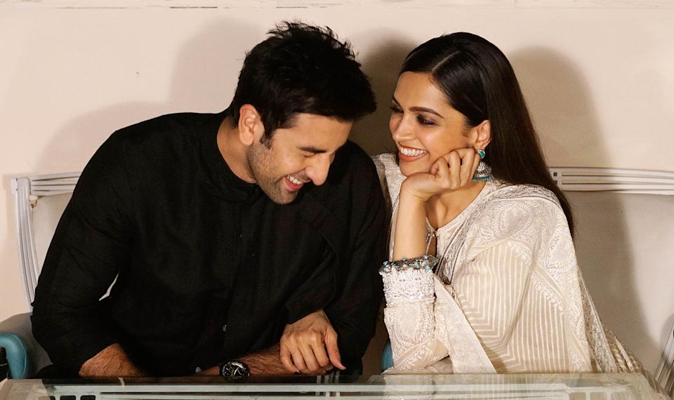 MUMBAI, INDIA - NOVEMBER 7: (Editors Note: This is an exclusive shoot of Hindustan Times) Bollywood actors Deepika Padukone and Ranbir Kapoor during an exclusive interview for Diwali festival with HT Cafe-Hindustan Times at Cafe Terra, Bandra, on November 7, 2015 in Mumbai, India. During the interview, Ranbir said,