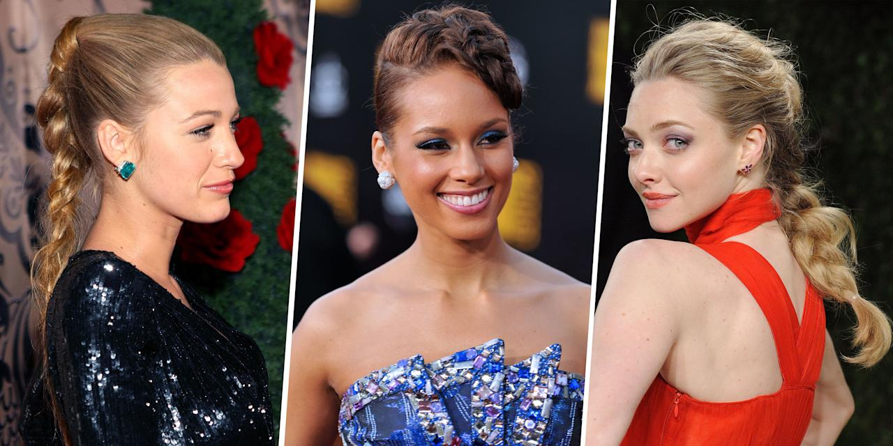 <p>Hey, your messy ponytail had a good run, but after a lifetime of being haphazardly twisted and tied up, it's begging to be retired. So instead of doing the exact same thing for the billionth time today, try one of these ridiculously pretty, celeb-inspired braids, instead. </p>