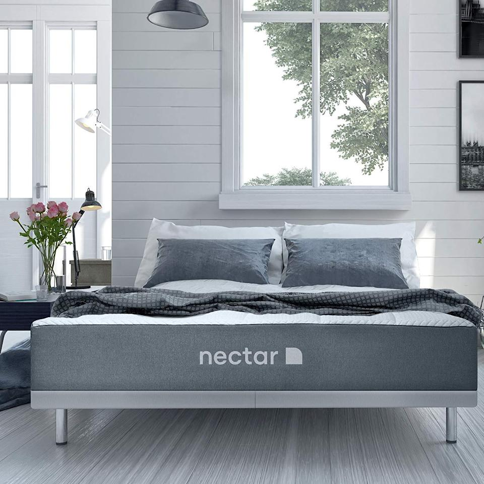 Buy a Nectar queen mattress on sale at Amazon and get two free pillows. (Photo: Amazon)