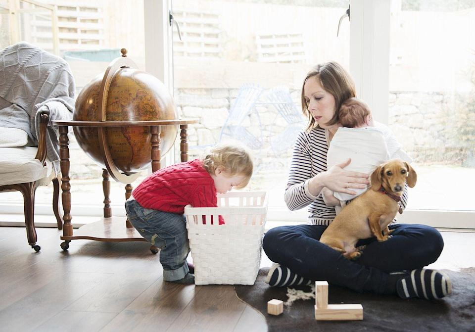 """<p>If you have a partner or little one who's constantly cluttering up the same space, have a dedicated basket in that space to keep things tidy. """"Items can be put in the basket and easily carried to their room to be put away later,"""" Truesdale says. </p><p><a class=""""link rapid-noclick-resp"""" href=""""https://www.amazon.com/Goodpick-Laundry-Storage-Blanket-Bins-Natural/dp/B07H5HCG5N/ref=sr_1_2?dchild=1&keywords=BASKET&qid=1610655208&sr=8-2&tag=syn-yahoo-20&ascsubtag=%5Bartid%7C10070.g.3310%5Bsrc%7Cyahoo-us"""" rel=""""nofollow noopener"""" target=""""_blank"""" data-ylk=""""slk:SHOP BASKETS"""">SHOP BASKETS</a></p>"""