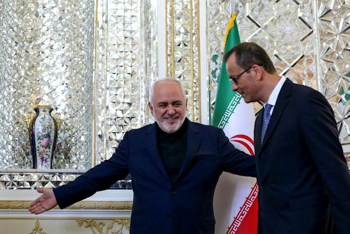 Cornel Feruta's visit comes after Iran took a series of steps away from the 2015 nuclear deal with world powers (AFP Photo/ATTA KENARE)