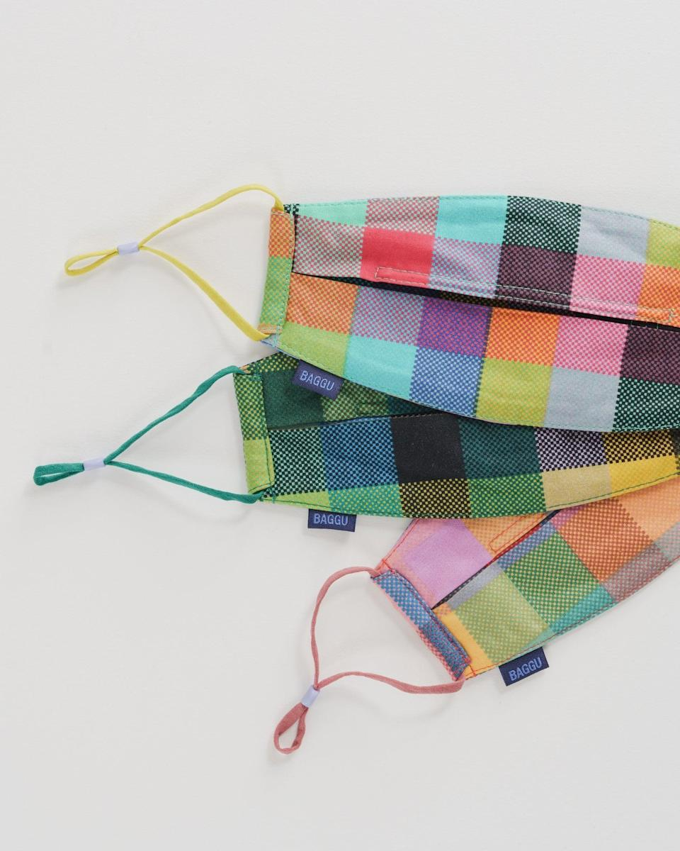 """<p>""""Listen to me - these <span>Baggu Fabric Mask Set</span> ($32) fit so well. They include ear loops and nose wires that are both adjustable. Plus, they come in tons of pretty patterns."""" - MCW</p>"""