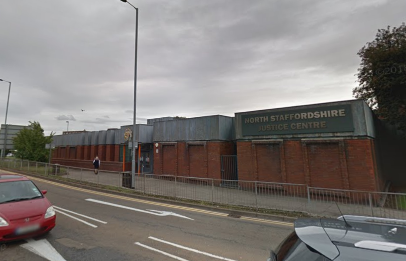 Thompson was found guilty at North Staffordshire Justice Centre. (Google)