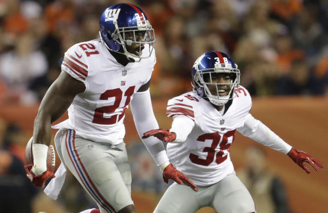 New York Giants safety Landon Collins had some harsh words for a teammate during a Tuesday interview. (AP)