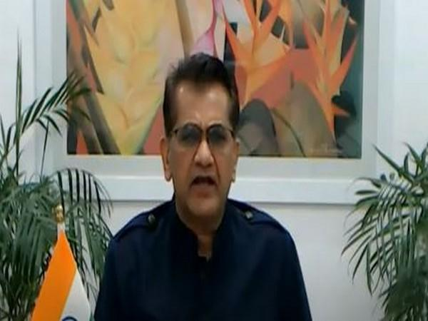 Amitabh Kant, CEO, NITI Aayog speaking during global summit on Artificial Intelligence on Monday. Photo/ANI
