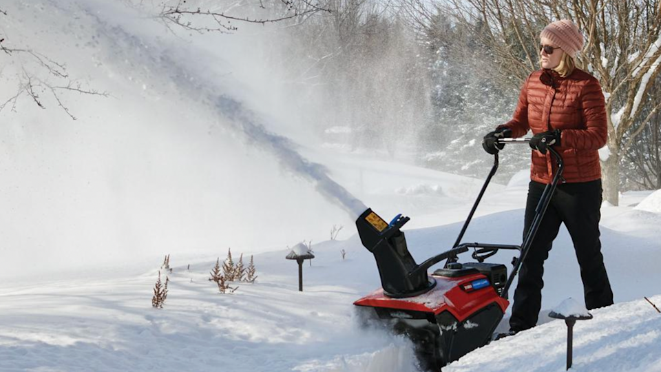 The Toro Power Clear 721 is a rigorous machine that works against asphalt surfaces to plow away densely packed snow.
