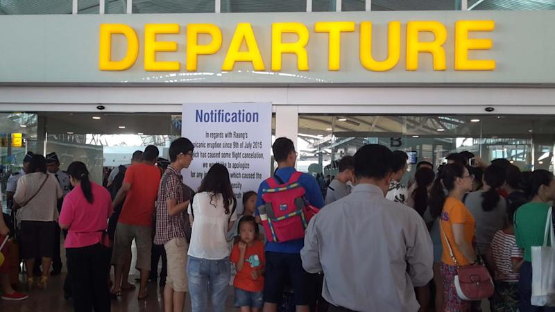 Bali-bound travellers are being warned that volcanic activity has disrupted flights.
