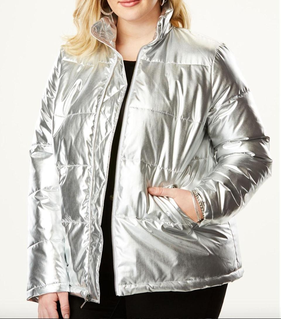 "<p>The classic puffer coat gets a killer revamp this season by coming in both gold and silver metallic for a perfect cold weather look that is anything but basic.<br><a href=""https://go.skimresources.com?id=125078X1586062&xs=1&url=https%3A%2F%2Fwww.roamans.com%2Fproducts%2Fmetallic-ultimate-puffer-jacket%2F1033055.html%3Faffiliate_id%3D049%26affiliate_location_id%3D01%26gclid%3DCjwKCAiAlvnfBRA1EiwAVOEgfD209RXKMoQNfAhLrtHWsTTKKBj8OCAA-0IIsw3EpSbVj5BI3-7_4BoC9wYQAvD_BwE%20"" rel=""nofollow noopener"" target=""_blank"" data-ylk=""slk:Shop it:"" class=""link rapid-noclick-resp""><strong>Shop it:</strong> </a>Metallic Ultimate Puffer Jacket, $136 (was $169), <a href=""https://go.skimresources.com?id=125078X1586062&xs=1&url=https%3A%2F%2Fwww.roamans.com%2Fproducts%2Fmetallic-ultimate-puffer-jacket%2F1033055.html%3Faffiliate_id%3D049%26affiliate_location_id%3D01%26gclid%3DCjwKCAiAlvnfBRA1EiwAVOEgfD209RXKMoQNfAhLrtHWsTTKKBj8OCAA-0IIsw3EpSbVj5BI3-7_4BoC9wYQAvD_BwE%20"" rel=""nofollow noopener"" target=""_blank"" data-ylk=""slk:roamans.com"" class=""link rapid-noclick-resp"">roamans.com</a> </p>"