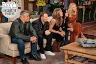 """<p>Ahead of the long-awaited Friends unscripted reunion at the end of the month, the six cast members have reunited for the cover of <a href=""""https://people.com/tv/friends-reunion-exclusive-go-inside-the-emotional-hbo-max-special-with-the-6-stars/"""" rel=""""nofollow noopener"""" target=""""_blank"""" data-ylk=""""slk:People"""" class=""""link rapid-noclick-resp"""">People</a> magazine. </p><p>The actors - who are now all in their 50s - pose together on the front cover for a <a href=""""https://www.instagram.com/p/CPDdNx4pTNe/"""" rel=""""nofollow noopener"""" target=""""_blank"""" data-ylk=""""slk:photo taken by Mark Seliger."""" class=""""link rapid-noclick-resp"""">photo taken by Mark Seliger. </a>In other images the six characters are photographed at a table read, while Le Blanc, Perry, Aniston, Cox and Kudrow sit on the couch facing the TV in Monica's 'NYC' apartment in another.</p><p>Read everything there is to know about the upcoming Friends reunion - including the release date and celebrity guests - <a href=""""https://www.elle.com/uk/life-and-culture/culture/a29781521/friends-reunion-special-hbo-max/"""" rel=""""nofollow noopener"""" target=""""_blank"""" data-ylk=""""slk:here"""" class=""""link rapid-noclick-resp"""">here</a>.</p><p><a href=""""https://www.instagram.com/p/CPDg-zBpPVe/"""" rel=""""nofollow noopener"""" target=""""_blank"""" data-ylk=""""slk:See the original post on Instagram"""" class=""""link rapid-noclick-resp"""">See the original post on Instagram</a></p>"""