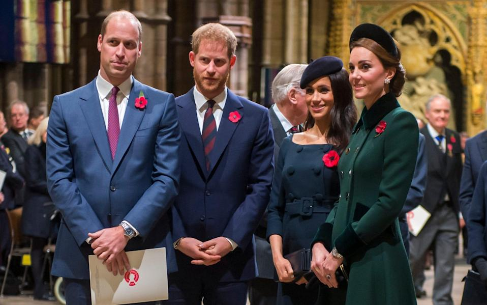 Clarence House has traditionally handed mail for the Sussexes and the Cambridges - Getty