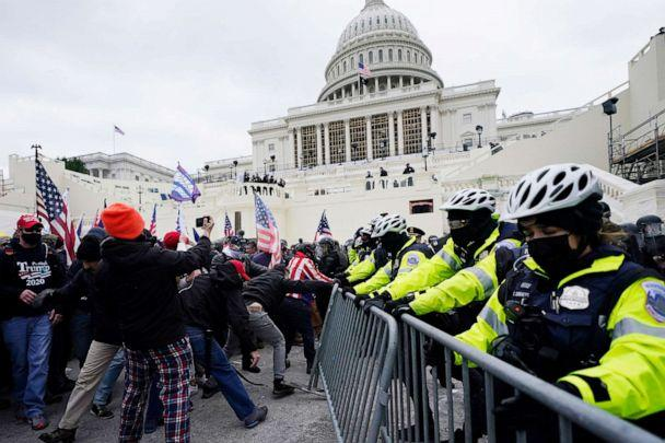 PHOTO: Trump supporters at the Capitol in Washington, D.C., Jan. 6, 2021. (John Minchillo/AP)