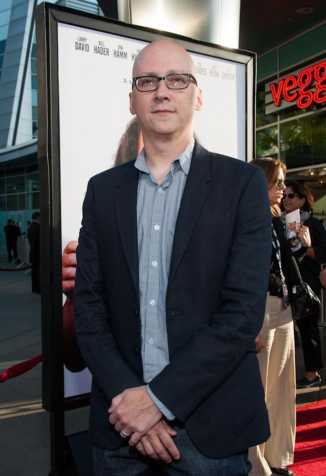 """HOLLYWOOD, CA - JULY 31: Greg Mottola arrives at the Premiere Of HBO Films' """"Clear History"""" at ArcLight Cinemas Cinerama Dome on July 31, 2013 in Hollywood, California. (Photo by Valerie Macon/Getty Images)"""