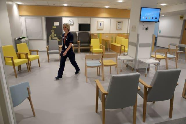The waiting room in a hospital (Andrew Milligan/PA)