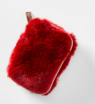 Faux Fur Earbud Case. Image via Anthropologie.