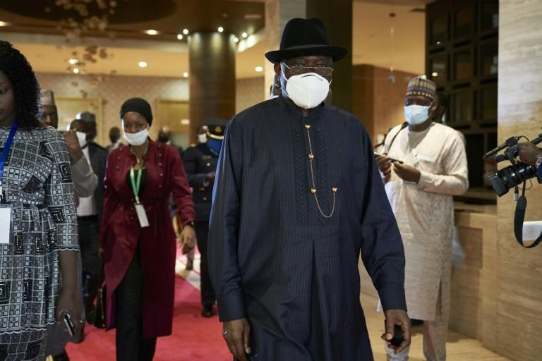 Former Nigerian president Goodluck Jonathan is mediating the talks