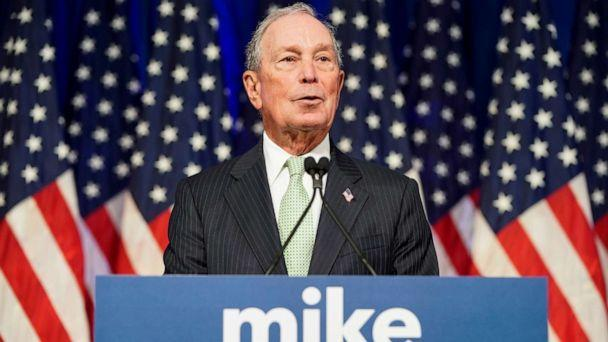 PHOTO: Democratic presidential candidate Michael Bloomberg addresses a news conference in Norfolk, Va., Nov. 25, 2019. (Joshua Roberts/Reuters, FILE)