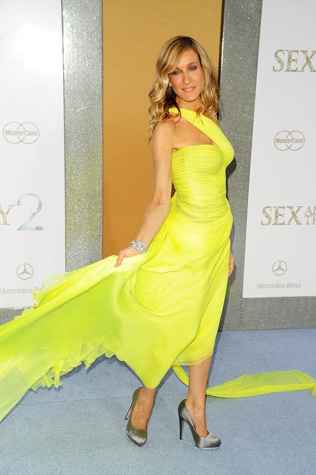 "<a href=""http://movies.yahoo.com/movie/contributor/1800016083"">Sarah Jessica Parker</a> at the New York City premiere of <a href=""http://movies.yahoo.com/movie/1810111276/info"">Sex and the City 2</a> - 05/24/2010"